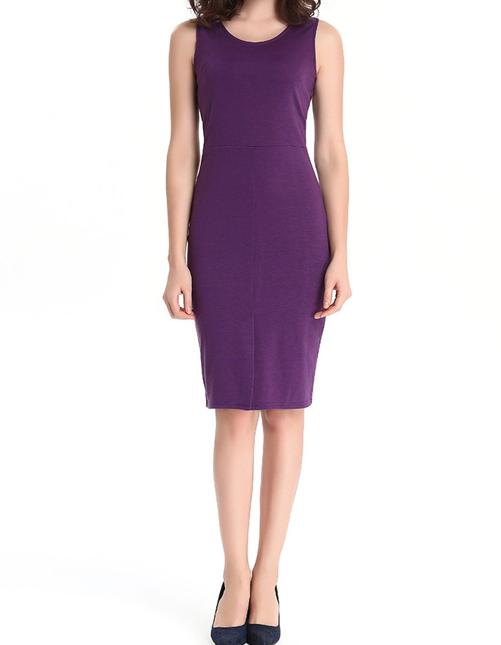 Women's Petite Ruched Knit Dress by Blair, Purple, Size M. Short Boat Dresses by Blair. Comes in Hyacinth, Size P-M. Ruching at the waist creates a flattering silhouette and easy fit. Finished with a flowing skirt for easy movement.