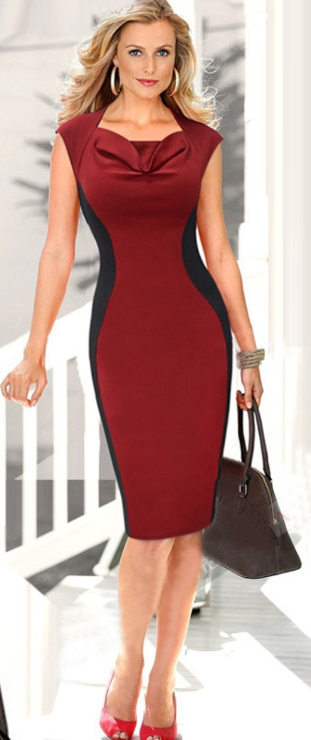 4d80aa4a08067 KETTYMORE WOMENS SLEEVELESS BODYCON SLIM HIP TIGHT DRESS RED WINE ...